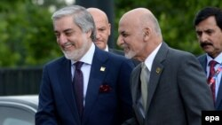 The Afghan government is itself divided along ethno-linguistic lines, with President Ashraf Ghani (right), a Pashtun, and Chief Executive Abdullah Abdullah, a Persian-speaking ethnic Tajik, uneasily sharing power.
