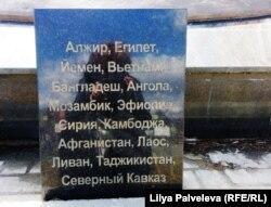 Деталь новосибирского памятника ветеранам боевых действий второй половины 20-го века