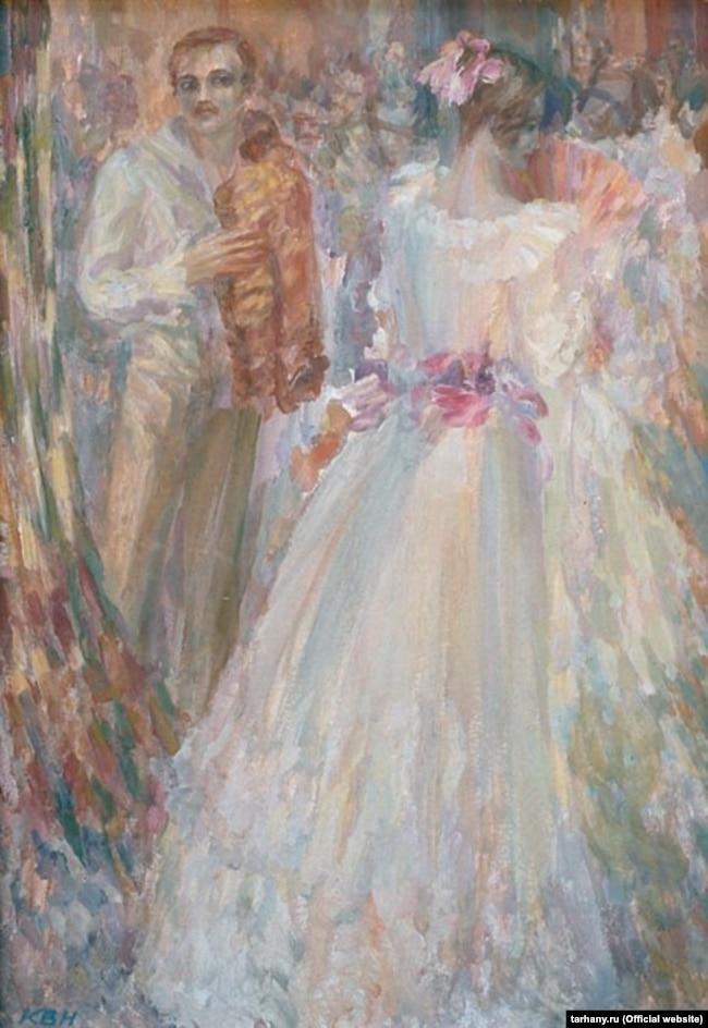 Володимир Кутявін. «М. Ю. Лермонтов». Картон, олія. 1988 рік