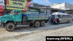 Поломка нового автобуса в Керчи, 20 января 2020