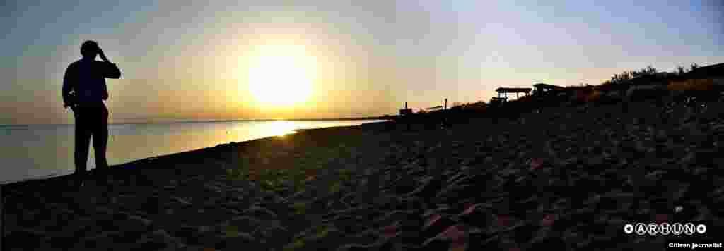 Утренний Балхаш. Панорамное фото. Прислал Arhun.