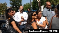Бугарски новинари на протест пред Бугарското национално радио.