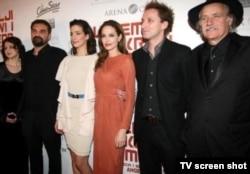 Angelina Jolie i glumci iz filma 'U zemlji krvi i meda', zagrebačka premijera, 17. veljače 2012.
