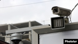 Armenia -- A speed camera placed in Yerevan, 10Jan2012.