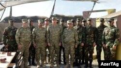 Azerbaijan -- President Ilham Aliyev visits a military unit in Agdam, near Nagorno-Karabakh – 6Aug2014