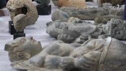 افغانستان ته سپارل شوي ۳۳ اثار موزيم کې ځای پرځای شول