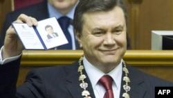 Віктор Янукович під час церемонії інавгурації, 25 лютого 2010 року