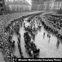 Траурная процессия в день похорон Яна Палаха 25 января 1969 года