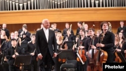 The CIS Youth Symphony Orchestra gives a concert in Yerevan on September 24.