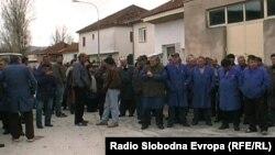 Архивска фотографија: Протест на вработените во фабриката Еурокомпозит во Прилеп.
