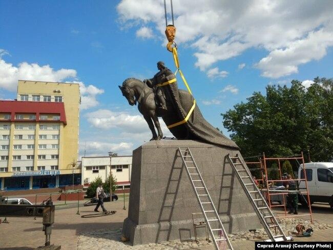 Адзіны помнік Гедзіміну ў Беларусі сёлета паставілі ў Лідзе