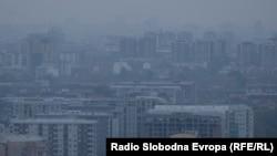 Аерозагадување во Скопје.