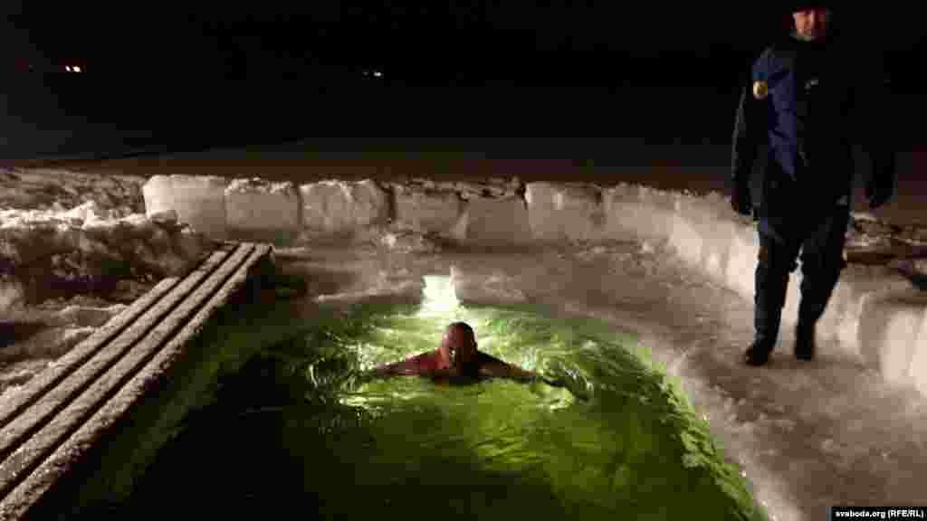 A midnight dip in the Minsk region of Belarus.