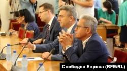 Представители на ДПС по време на консултациите с ИТН.