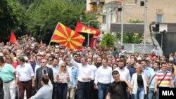 VMRO-DPMNEnin təşkil etdiyi etiraz aksiyası, Christian Mickoski