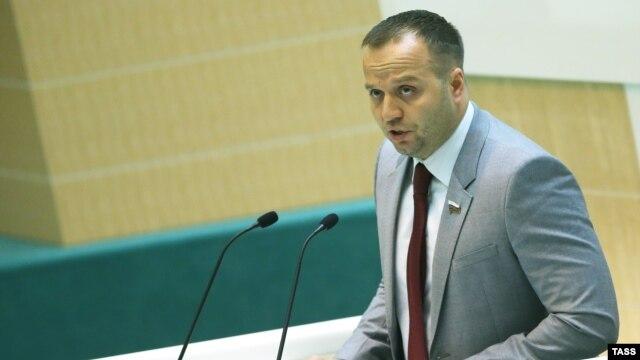 Константин Добрынин выступает в Совете Федерации