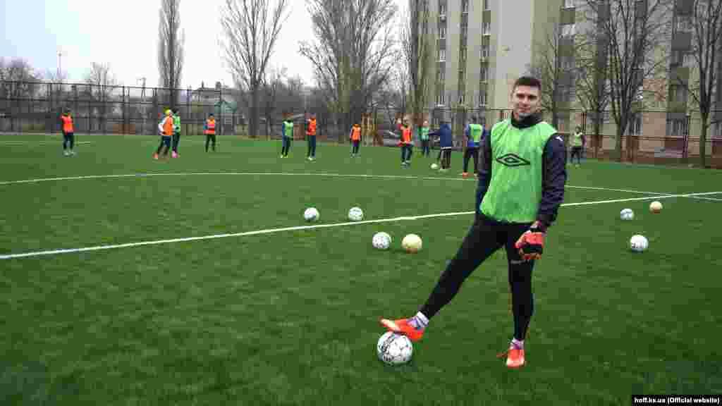 Оновлений склад ФК «Таврія» на тренуванні в Херсоні