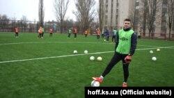 Обновленный состав ФК «Таврия» на тренировке в Херсоне