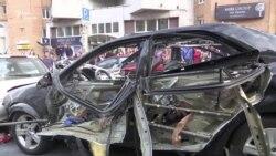 В центре Киева взрыв автомобиля – полиция сообщает об убийстве (видео)