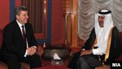 Средба на претседателот Ѓорѓе Иванов со премиерот на Катар - Шеик Хамад бин Џасмин бин Џабор Ал-Тани, Доха, Катар.