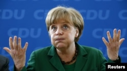 German Chancellor and Christian Democratic Union (CDU) party leader Angela Merkel (file photo)