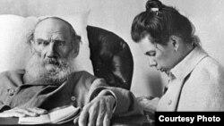 Л.Н.Толстой с дочерью Татьяной