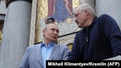 Уладзімер Пуцін і Аляксандар Лукашэнка падчас сустрэчы ў Валааме, 18 ліпеня