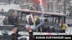 Еуромайдан. Киев, 22 қаңтар 2014 жыл