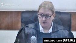 Դատավոր Աննա Դանիբեկյանը դատական նիստի ժամանակ, արխիվ