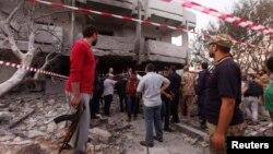 Ливиядағы Франция елшілігіне жасалған шабуыл. Триполи, 23 сәуір 2013 жыл.