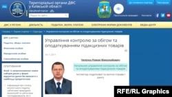 Посада Романа Чепілка на сайті ДФС зазначена як «керівник управління контролю за обігом та оподаткуванням підакцизних товарів»