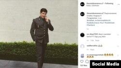 Отабек Умаров в форме сотрудника Государственной службы безопасности президента Узбекистана. Фото из страницы Умарова в Instagram'е.