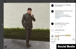 Otabek Umarov DXX podpolkovnigi formasida. 2019 yil