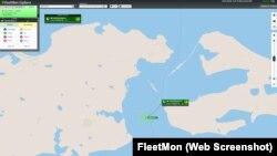 Скріншот - Танкер GEORGIANA H на сайті відкритої бази даних судів і портів FleetMon