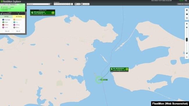 Скриншот - Танкер GEORGIANA H на сайте открытой базы данных судов и портов FleetMon