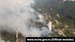 Лесной пожар в Крыму, архивное фото