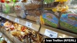 В хлебном отделе московского магазина