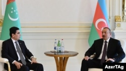 Türkmenistanyň prezidenti Gurbanguly Berdimuhamedow we Azerbaýjanyň prezidenti Ylham Aliýew