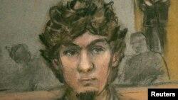 Skica e Dzhokhar Tsarnaevit