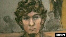Джохар Царнаев. Зарисовка из зала суда