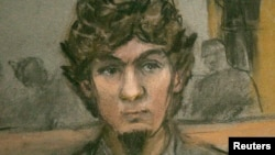 Tsarnaev-in məhkəmə zamanı çəkilmiş eskizi