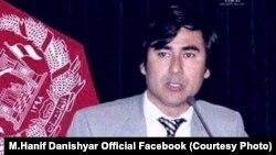 محمد حنیف دانشیار عضو کمیسیون مستقل انتخابات افغانستان