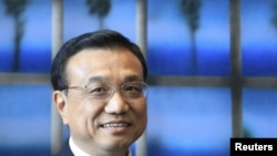 Chinese Vice Premier Li Keqiang visits European Commission headquarters in Brussels in May.