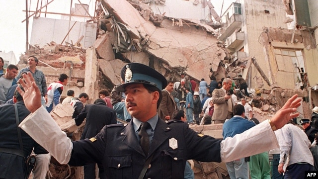 The July 1994, bombing in Buenos Aires killed 85 people.