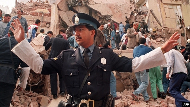 Eighty-five people were killed in the bombing of a Jewish center in Buenos Aires in 1994. (file photo)