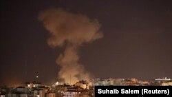 تصویری از حملات هوایی پیشین اسرائیل به غزه