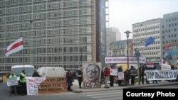 Demonstrație la Bruxelles în sprijinul deținuților politici din Belarus