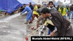 جانب من حملة تنظيف كربلاء التطوعية