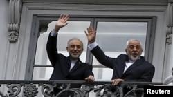 Իրանի ԱԳ նախարար Մոհամադ Ջավադ Զարիֆը և Իրանի ատոմային էներգիայի կազմակերպության ղեկավար Ալի Աքբար Սալեհին Վիեննայում, 10-ը հուլիսի, 2015թ.
