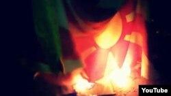 Непознати сторители синоќа го запалиле македонското знаме.